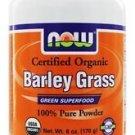 BARLEY GRASS POWDER ORG  6 OZ By Now Foods