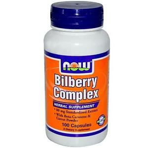 BILBERRY COMP 80mg  100 CAPS By Now Foods