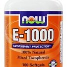 E-1000 MIXED TOC  100 SGELS By Now Foods