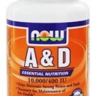 A & D 10000/400  100 SGELS By Now Foods
