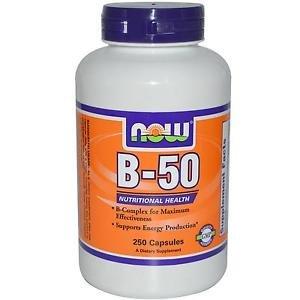 B-50 CAPS  250 CAPS By Now Foods