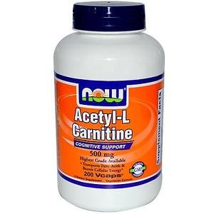 ACETYL L-CARN 500mg 200 VCAPS By Now Foods
