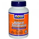 Natural Resveratrol 200Mg   120 Vcaps NOW Foods