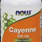 Cayenne 500Mg  100 Caps NOW Foods