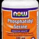 Phosphatidyl Serine 100Mg  30 Vcaps NOW Foods