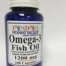 Omega-3 Fish Oil 1200 mg 200 capsules