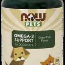 Now Pets Omega 3 (Cats & Dogs)  180 Softgels NOW Foods