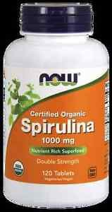 Spirulina 1000 Mg Org  120 Tabs NOW Foods