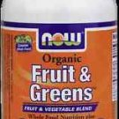 Fruit & Greens 1000Mg Org 120 Tabs NOW Foods