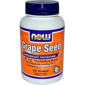 Grape Seed Anti 60Mg  180 Vcaps NOW Foods