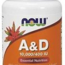 Now Foods, A&D, Essential Nutrition, 10,000/400 IU, 100 Softgels