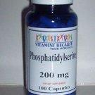Phosphatidylserine 200mg 100 Caps - Memory Support, Brain Health 3 +Month Supply