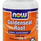 GOLDENSEAL ROOT 500mg  50 CAPS By Now Foods