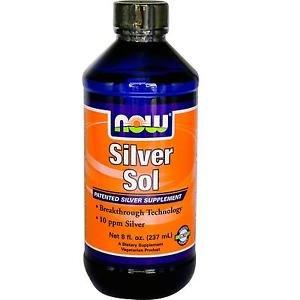 Silver Sol  10 Ppm Liquid  8 Fl. Oz. NOW Foods