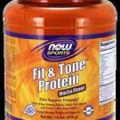 Fit & Tone(Tm) Protein - Mocha  1.8 Lbs NOW Foods