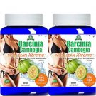 100% Pure Garcinia Cambogia Mega Lean Extreme 1000mg Pure HCA Weight Loss -2pack