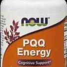 Pqq Energy 20Mg Plus 30 Vcaps NOW Foods