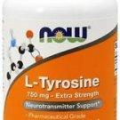 Now Foods, L-Tyrosine, Extra Strength, 750 mg, 90 Capsules