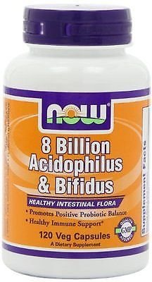 8 Billion Acidoph/Bifidus 60 Vcaps NOW Foods