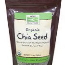 BLACK CHIA SEEDS ORG 12 OZ By Now Foods