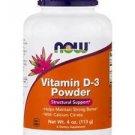 Vitamin D-3 Powder (2000 IU per 1/4 Tsp.) - 4 oz (113 Grams) by NOW