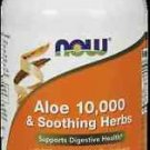 Aloe Vera 10,000 & Soothing Herbs  90 Vcaps NOW Foods