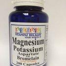 Magnesium & Potassium Aspartate with Bromelain Anti Aging 200 capsules