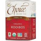 Choice Organic Teas, Herbal Tea, Organic, Rooibos, Caffeine-Free, 16 Bags, 1.27