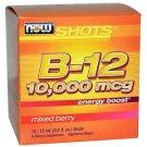 Now Foods, Shots, B-12, Mixed Berry , 10,000 mcg, 12 Shots, 0.5 fl oz (15 ml) Ea
