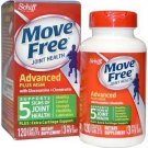 Schiff Move Free Joint Glucosamine Chondroitin Plus MSM 120 Coated Tablets 2Pack