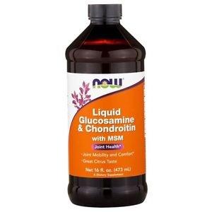 Now Foods, Liquid Glucosamine & Chondroitin, with MSM, 16 fl oz (473 ml)