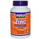 Zinc Gluconate 50Mg  250 Tabs NOW Foods