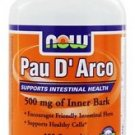 NOW Foods Pau D'Arco Inner Bark 500 mg - 100 Capsules