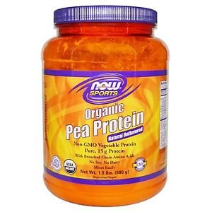 Now Foods Sports Organic Pea Protein Natural Unflavored - 1.5 lbs (680 g)