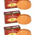 3 Bars of Chandrika Soap Sandal Soap - 75g