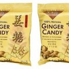 2 Bags Prince Of Peace 100% Natural Ginger Candy Chews 4.4 oz each