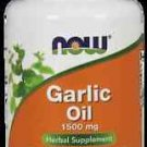 NOW Foods Garlic Oil 1500mg Herbal Supplement - 100 Softgels