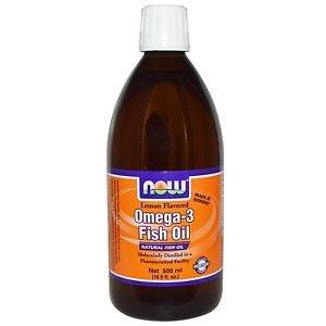 Now Foods Omega-3 Fish Oil Lemon Flavored - 16.9 fl oz (500 ml)