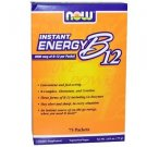 Now Foods, Instant Energy B12, 2000 mcg, 75 Packets, (1 g) Each
