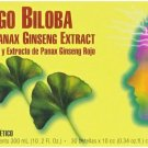 Ginkgo Biloba Red Panax Ginseng Extract, Prince of Peace, 30 servings