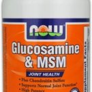 Glucosamine & M.S.M  750/250Mg 180 Vcaps NOW Foods - Joint Health