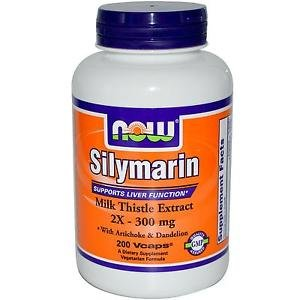 Silymarin Milk Thistle 300Mg  200 Vcaps NOW Foods