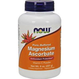 Magnesium Ascorbate Vitamin C Powder  8 Oz NOW Foods