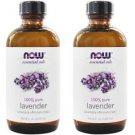 2 Bottles Now Foods 100% Pure Lavender Oil  4 fl oz.