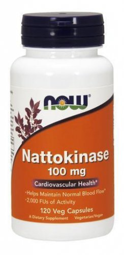 NOW Foods - Nattokinase 100 mg. - 120 Vegetarian Capsules