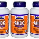 3 Pack Now Foods AHCC Extra Strength 750 mg, 60 Vcaps