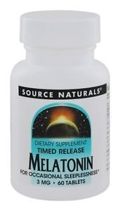 Melatonin 3 mg T/R - 60 Tablets by Source Naturals