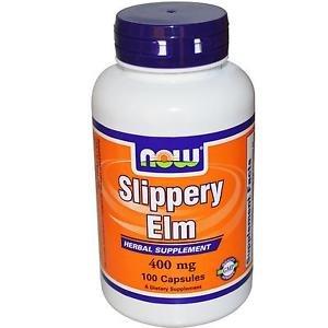 Now Foods Slippery Elm 400mg - 100 Capsules