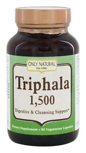 Only Natural - Triphala Digestive And Cleansing Support 1500 Mg - 90 Cpasules