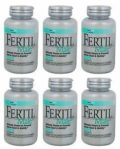6 Pack Lane Labs Fertil Male Supports Healthy Sperm Activity 90 Capsules